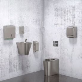 H&L Stainless Steel WC Set with Manual Tap & WC Flush